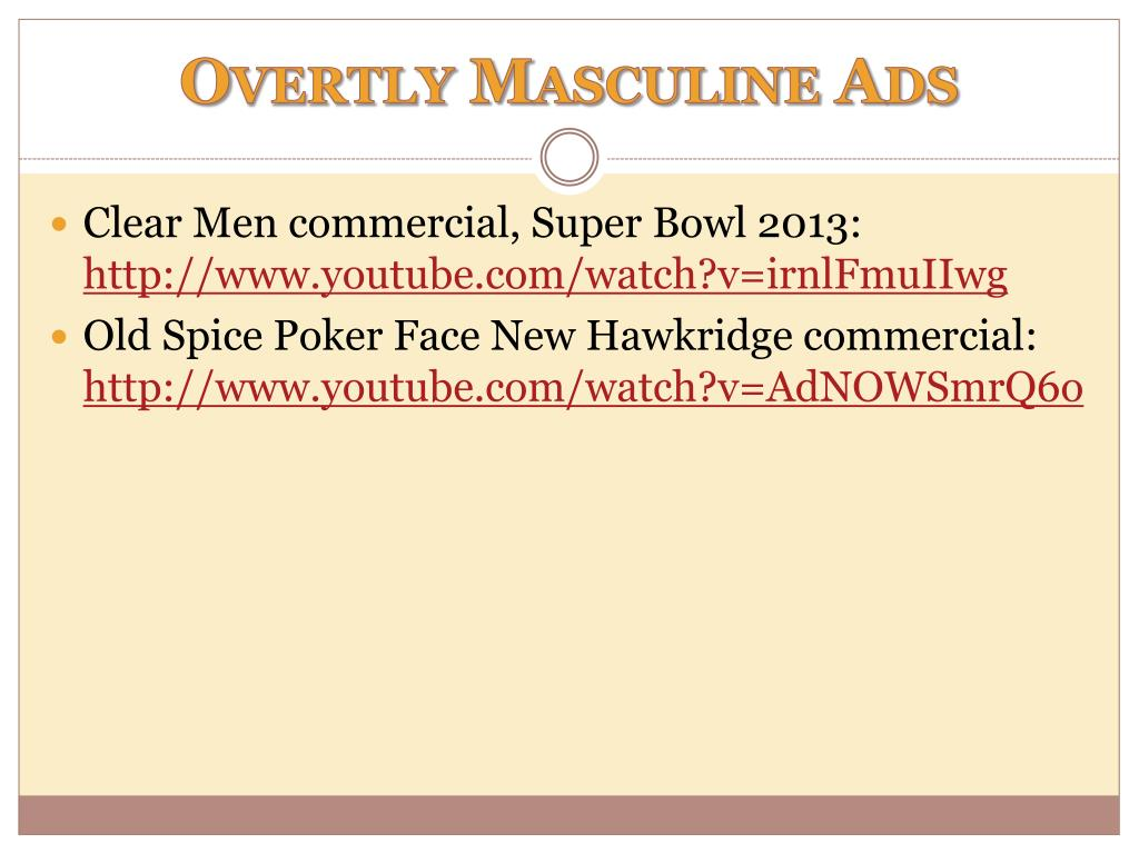 PPT - Masculinity in Advertising PowerPoint Presentation