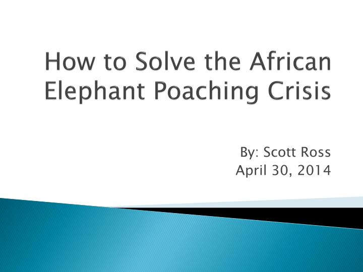 how to solve the african elephant poaching crisis n.