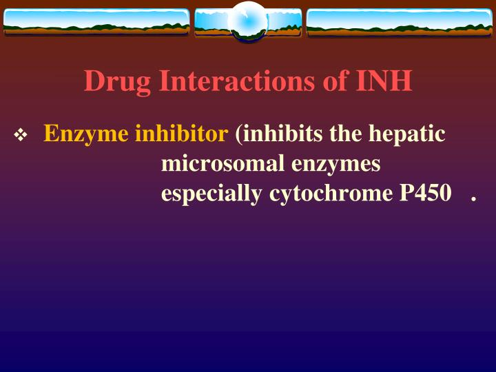 Drug Interactions of INH