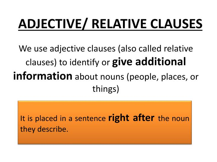 adjective relative clauses n.