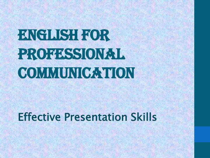 english for professional communication n.