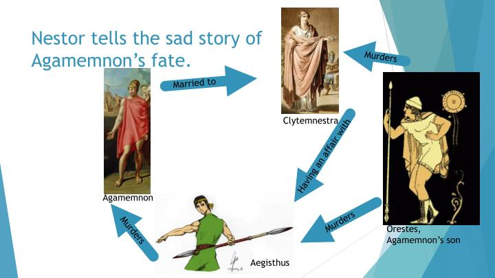 Nestor tells the sad story of Agamemnon's fate.