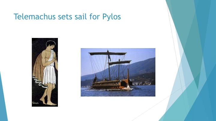 Telemachus sets sail for