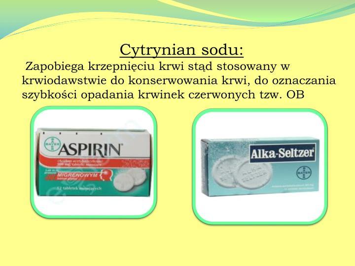 Cytrynian sodu: