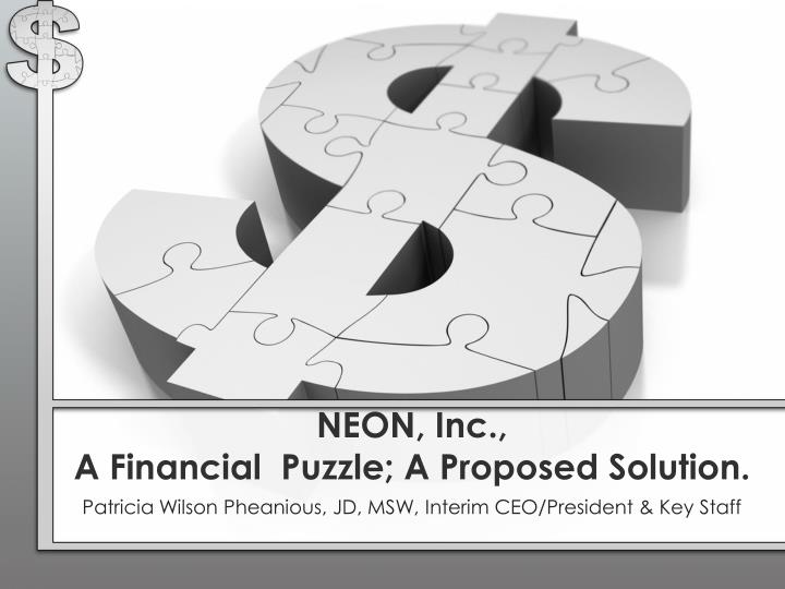 neon inc a financial puzzle a proposed solution n.