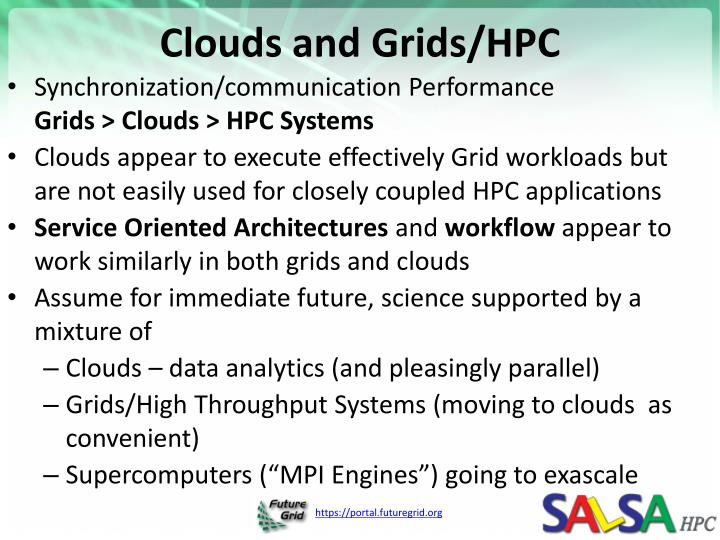 Clouds and Grids/HPC