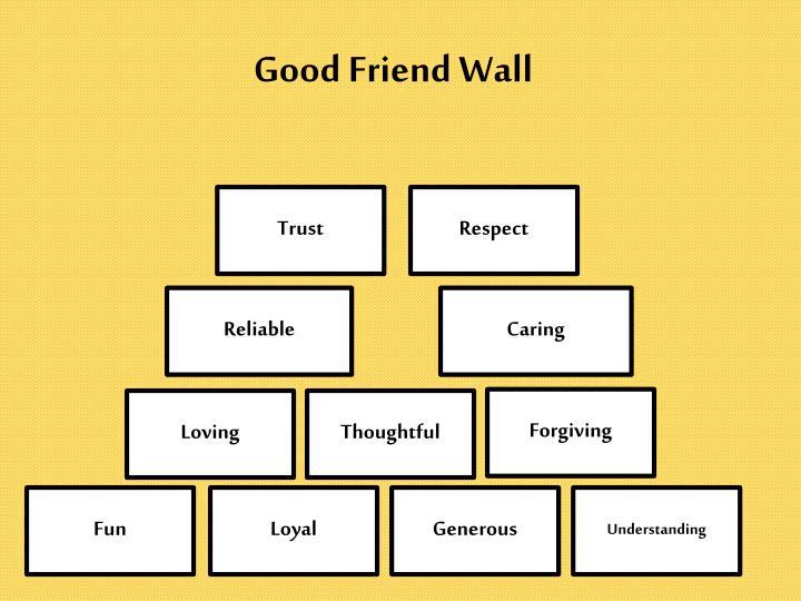 Good friend wall