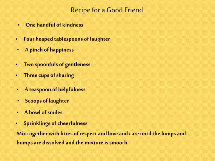 Recipe for a