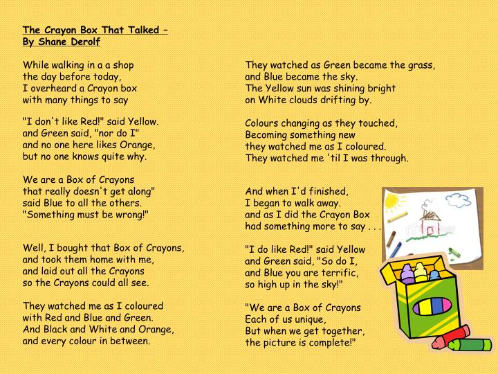 The Crayon Box That Talked –