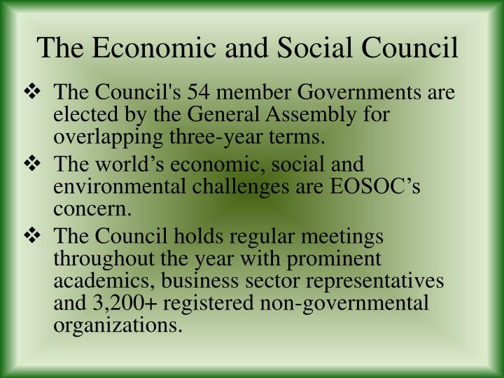 the economic and social council n.