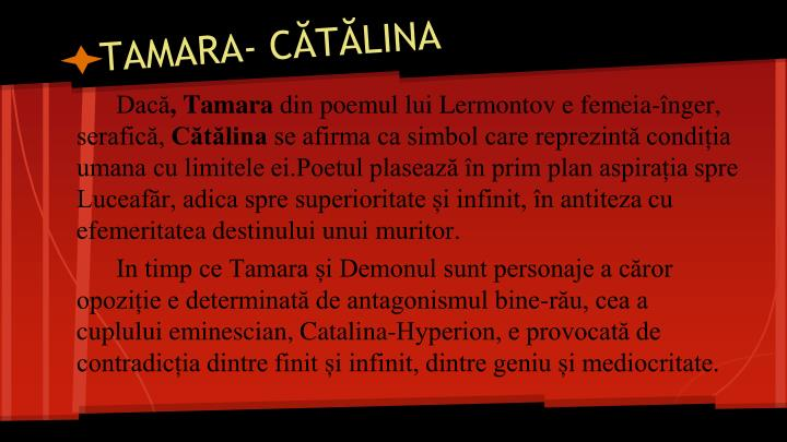TAMARA- CĂTĂLINA