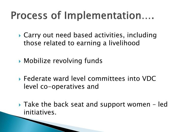 Process of Implementation….