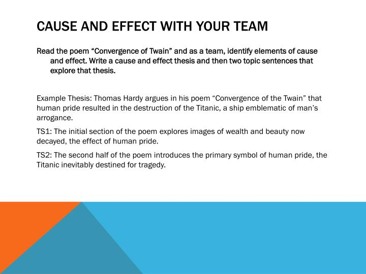 Cause and Effect with your Team