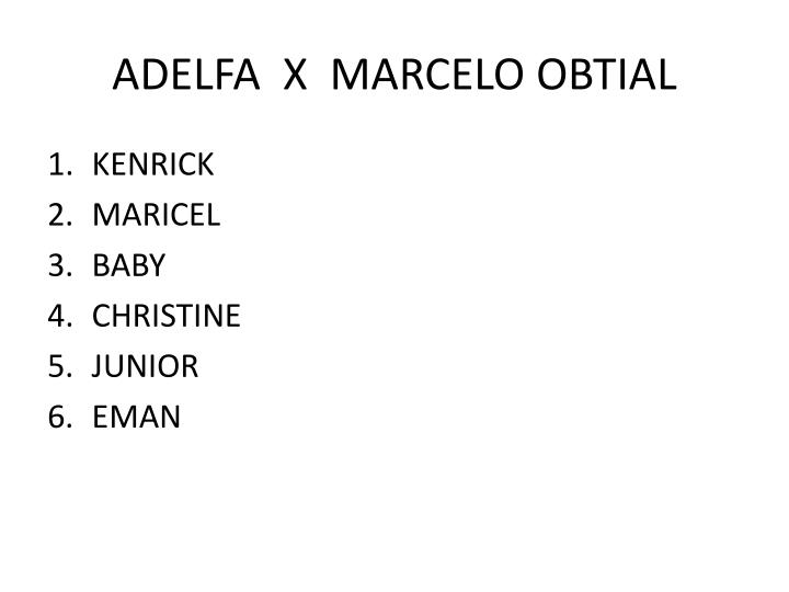 ADELFA  X  MARCELO OBTIAL