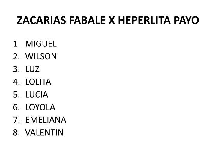 ZACARIAS FABALE X HEPERLITA PAYO