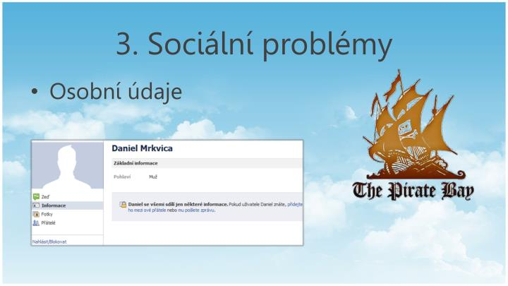3. Sociální problémy