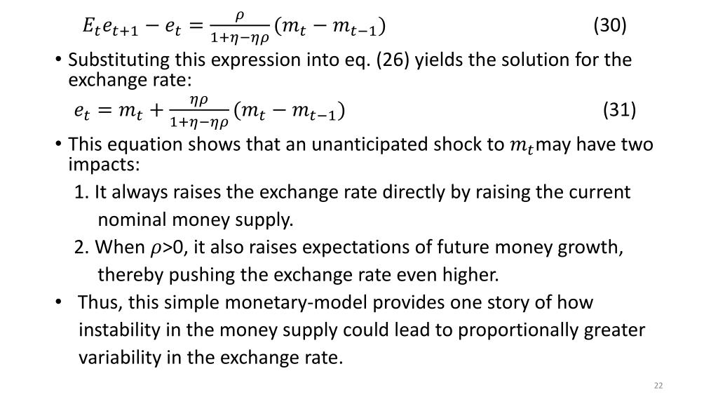 PPT - The Cagan Model of Money and Prices PowerPoint Presentation