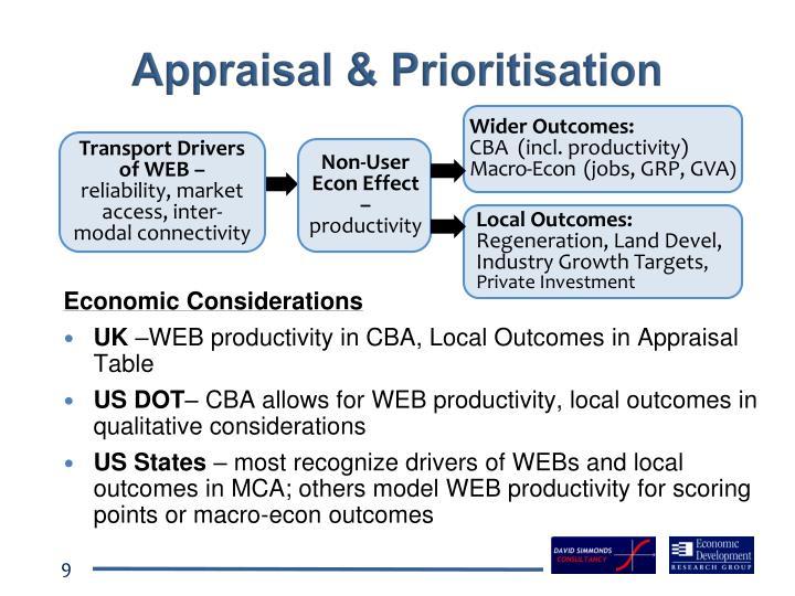 Appraisal & Prioritisation