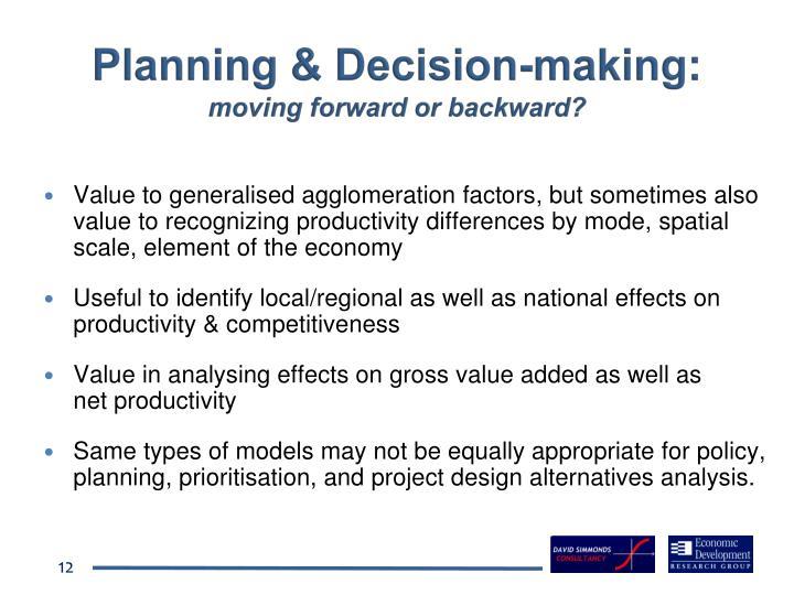 Planning & Decision-making: