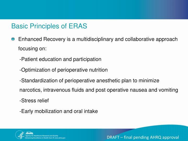 Basic Principles of ERAS