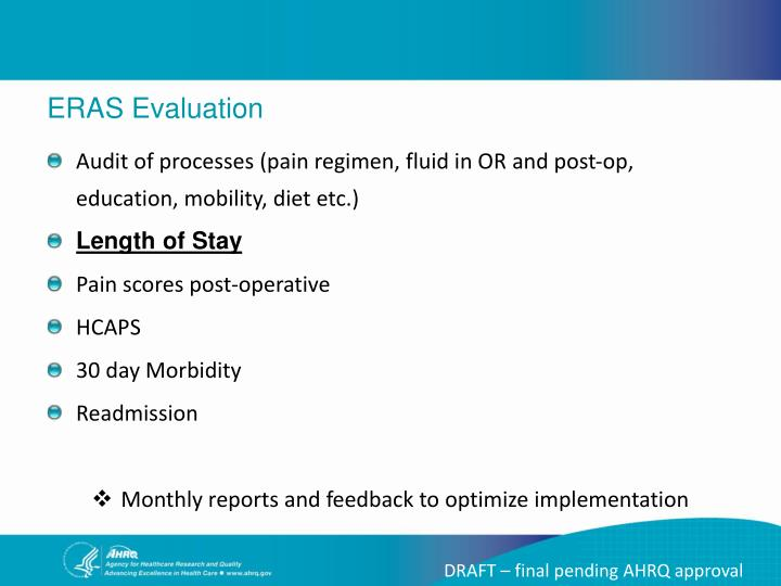 ERAS Evaluation