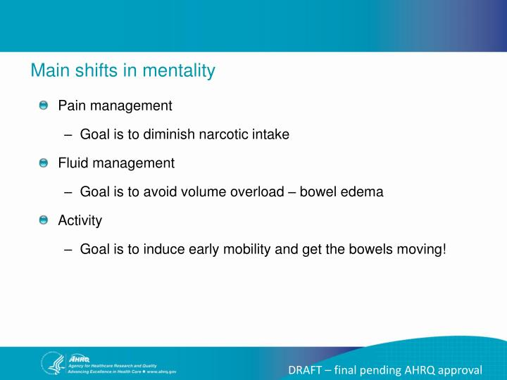 Main shifts in mentality