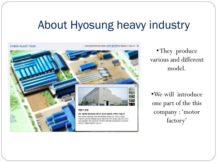 About Hyosung heavy industry