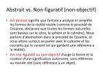 abstrait vs non figuratif non objectif