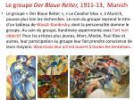 le groupe der blaue reiter 1911 13 munich