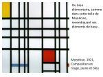 mondrian 1921 composition en rouge jaune et bleu
