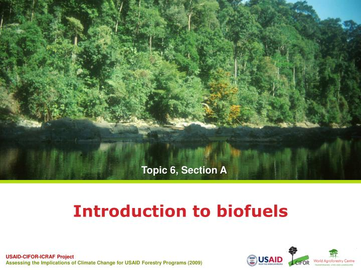 introduction to biofuels n.