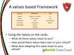 a values based framework