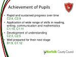 achievement of pupils