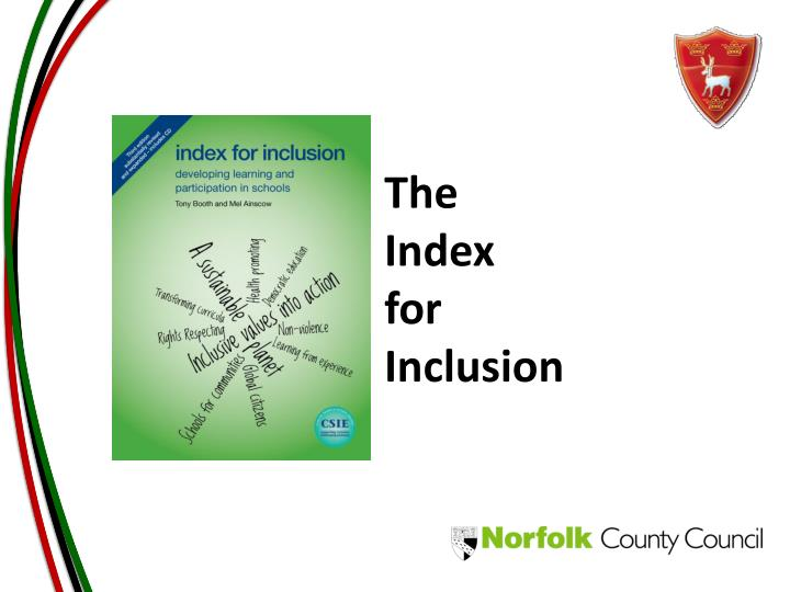 the index for inclusion n.