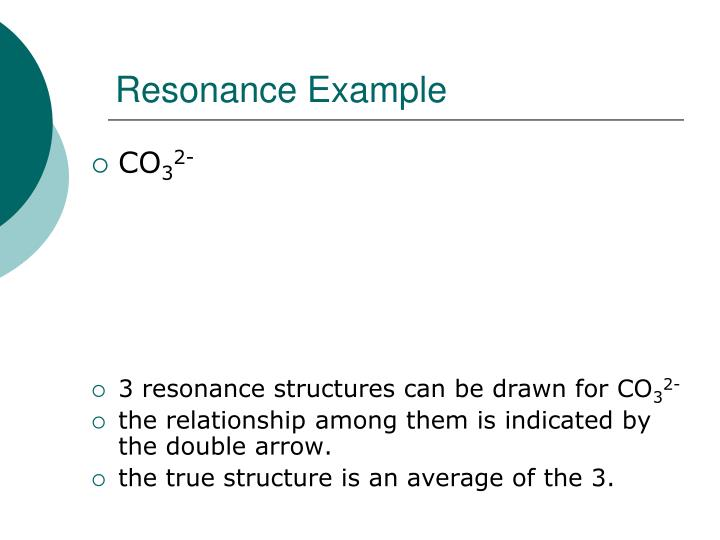 Resonance Example