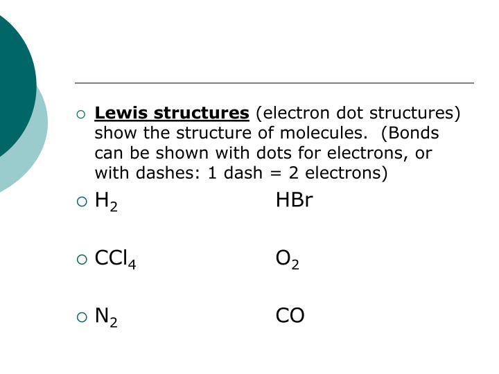 Lewis structures