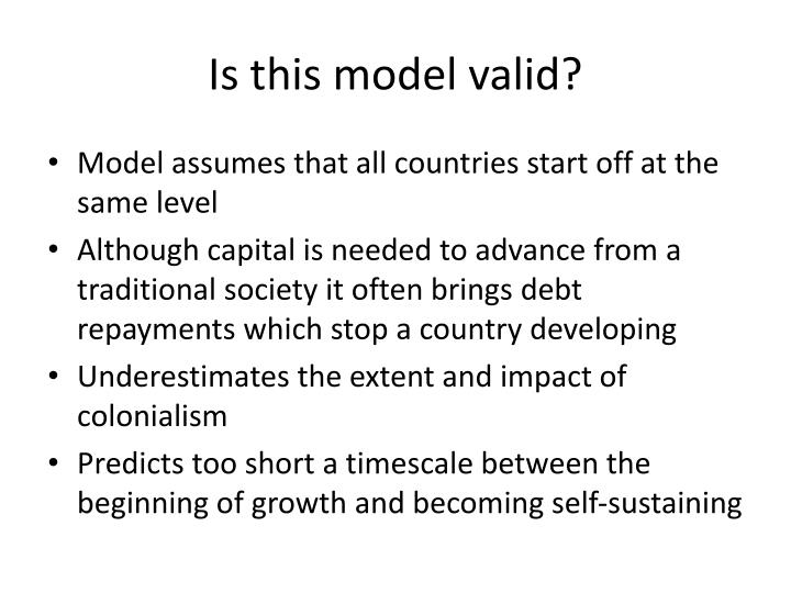 Is this model valid?