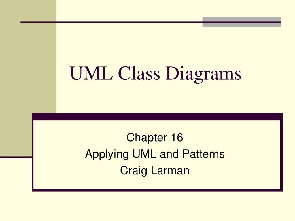 PPT - UML Class Diagrams PowerPoint Presentation - ID:1997071