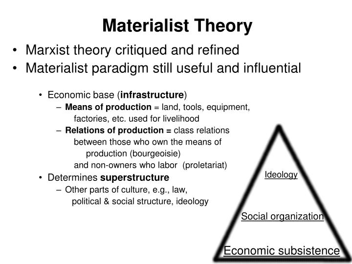 Materialist theory