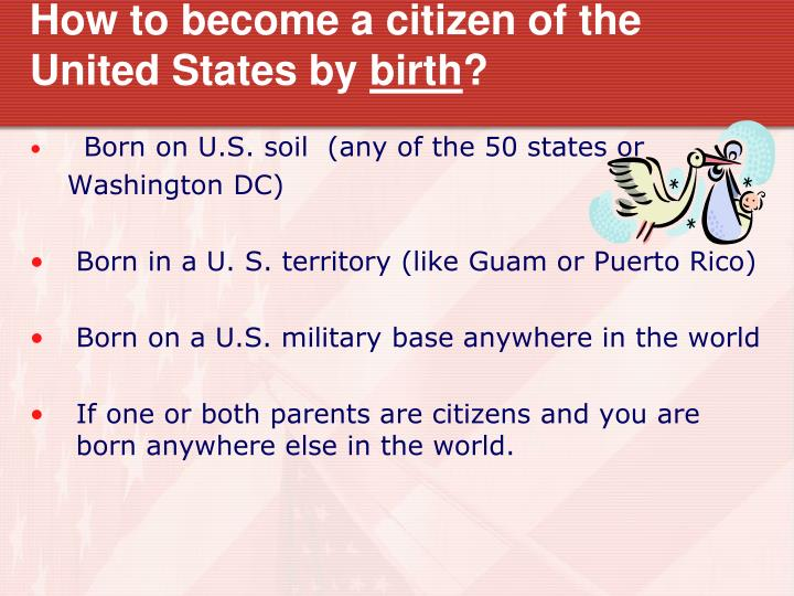 How to become a citizen of the United States by