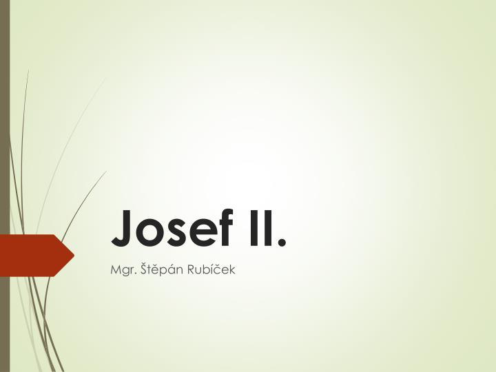 Josef ii