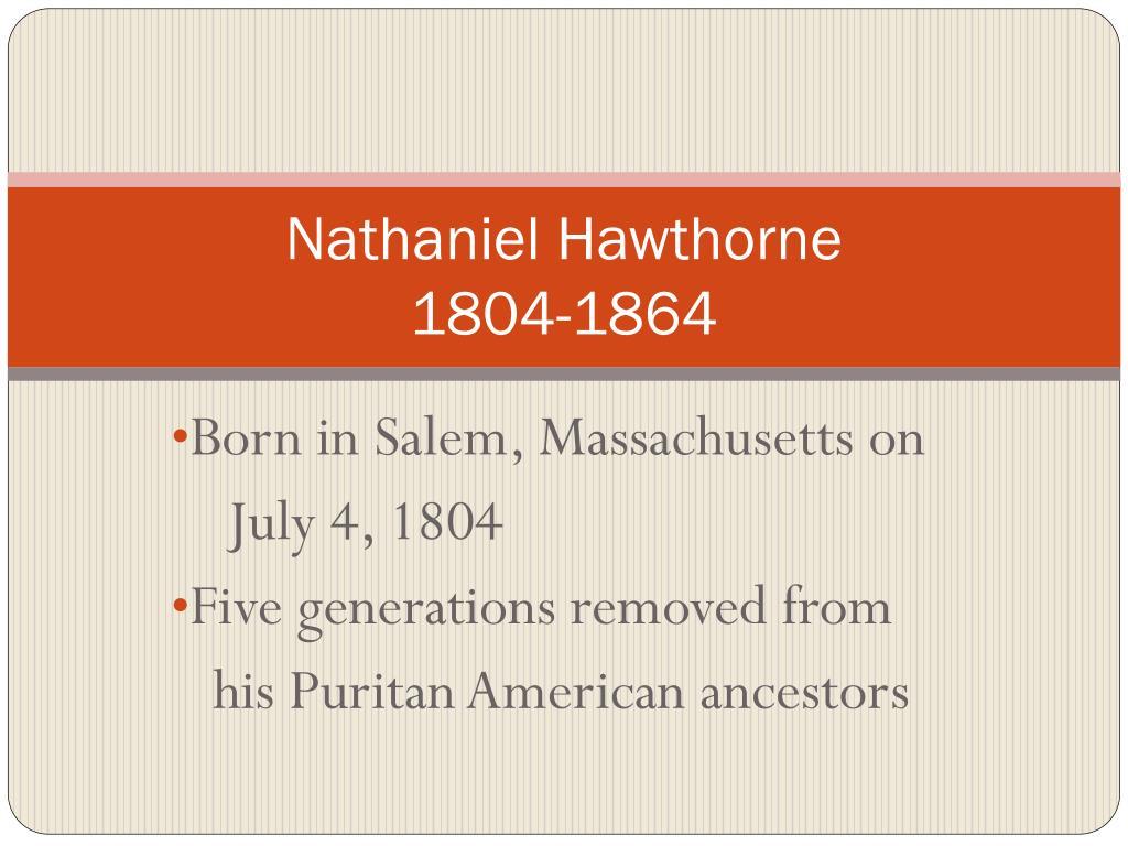 nathaniel hawthorne born