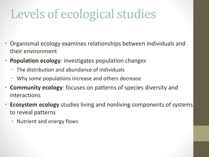 Levels of ecological studies