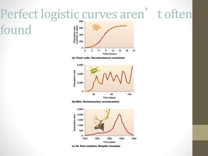 Perfect logistic curves aren
