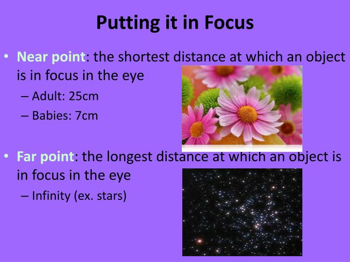 Putting it in Focus