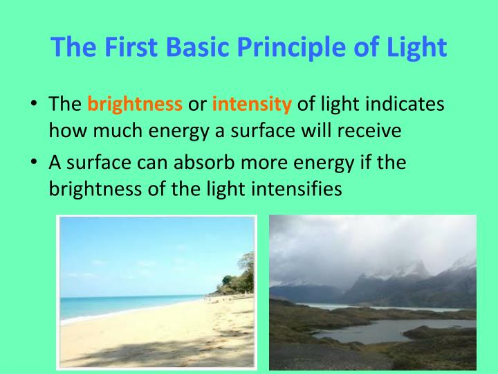 The First Basic Principle of Light