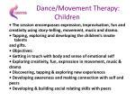 dance movement therapy children
