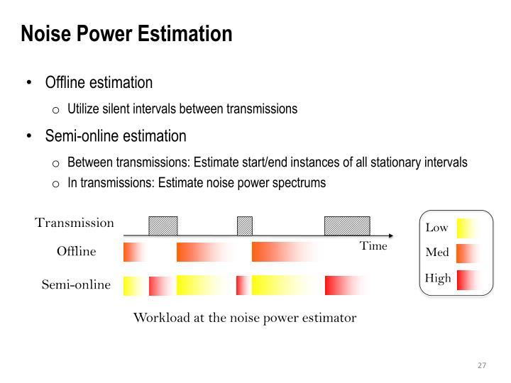 Noise Power Estimation