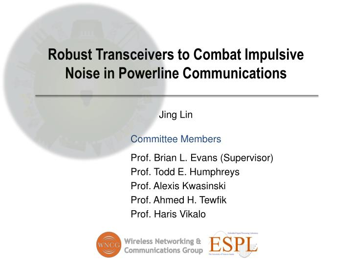 Robust transceivers to combat impulsive noise in powerline communications