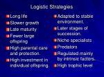 logistic strategies